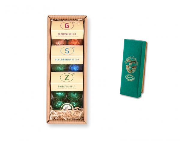 Geschenkskarton - mit Pralinenmischungen