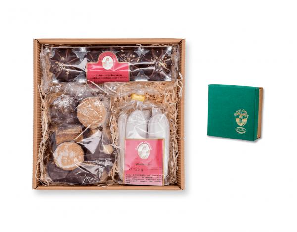 Geschenkskarton - mit drei verschiedenen Lebkuchen
