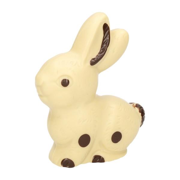 Sitzhase groß, Weiß - Schokolade Osterhase