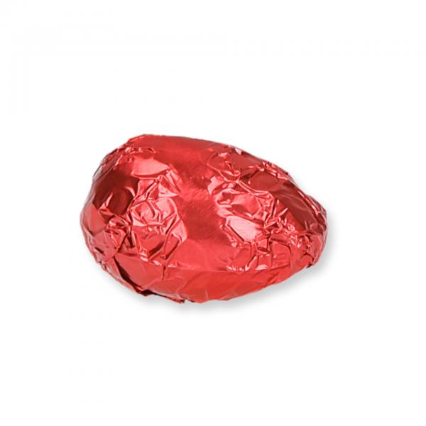 Zartbitter-Schokolade-Ei mit Himbeer-Fülle