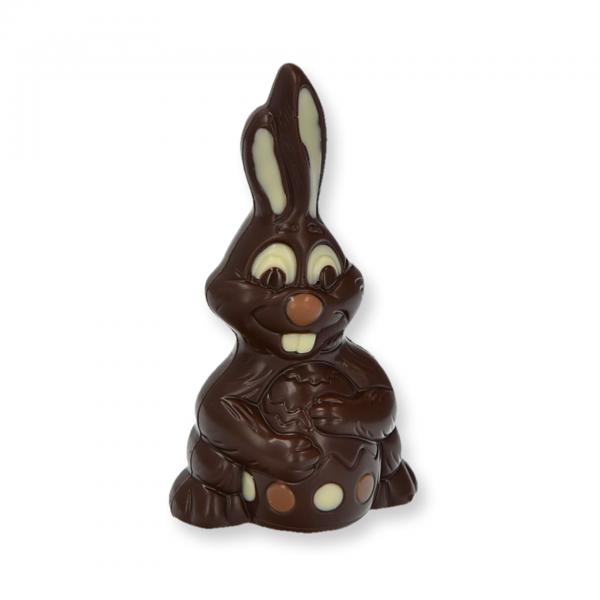 Bunny mit Ei klein, Zartbitter - Schoko Osterhase