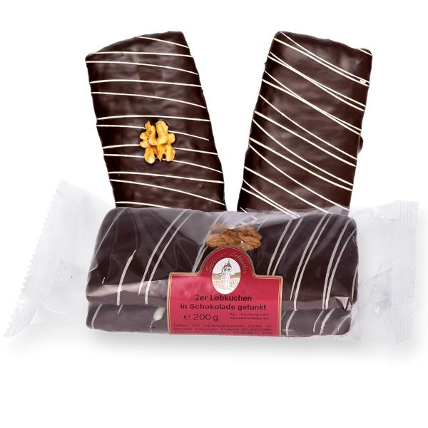 2er Lebkuchen in Schokolade