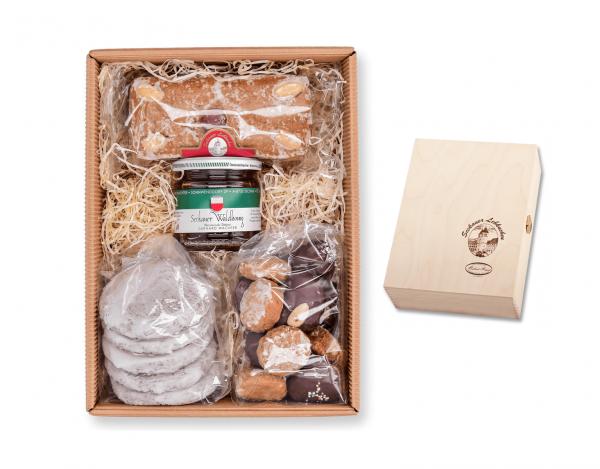 Holzkassette - Sommerpackung mit Honig